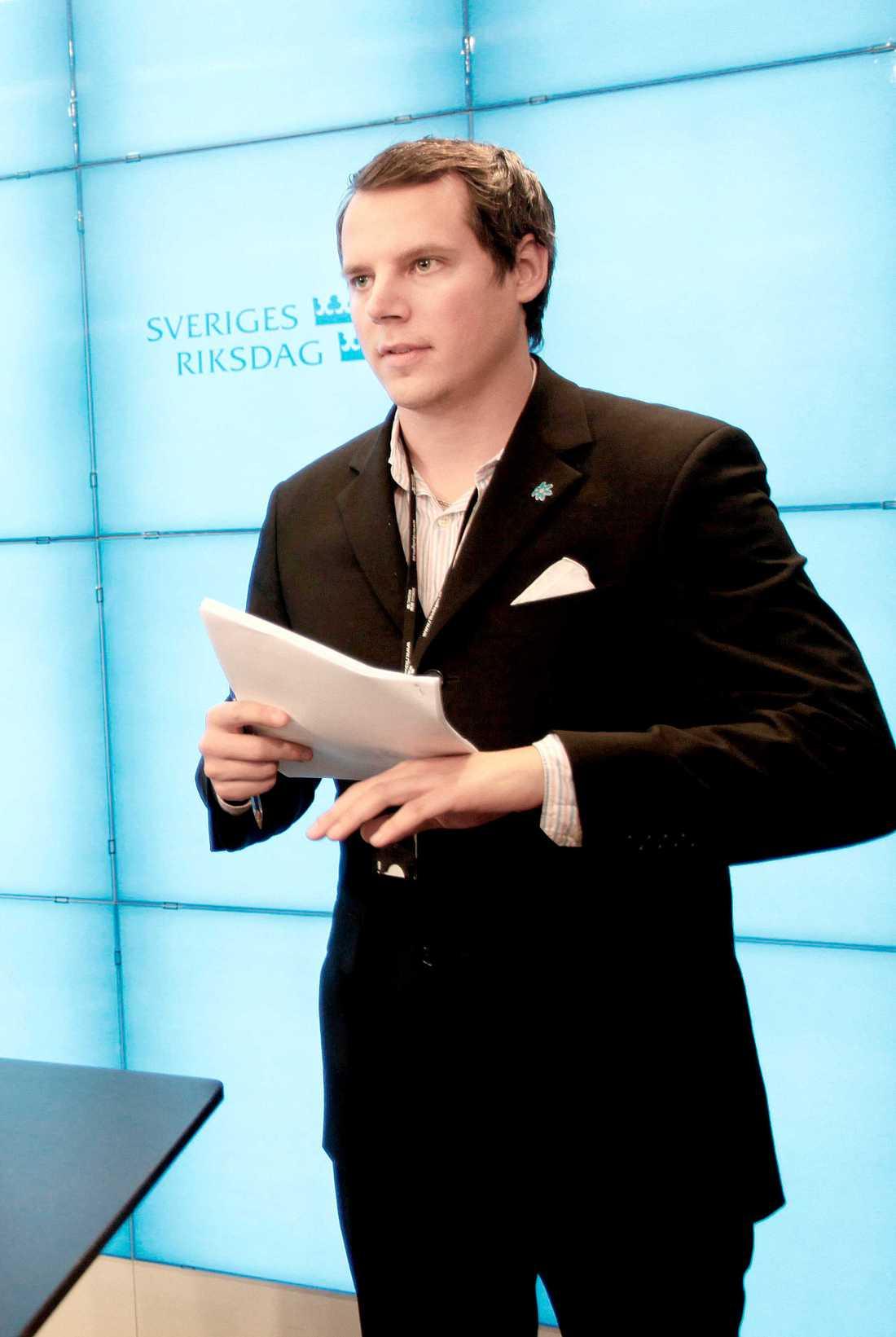 Christoffer Dulny, förstanamn på Sverigedemokraternas lista i Stockholm.