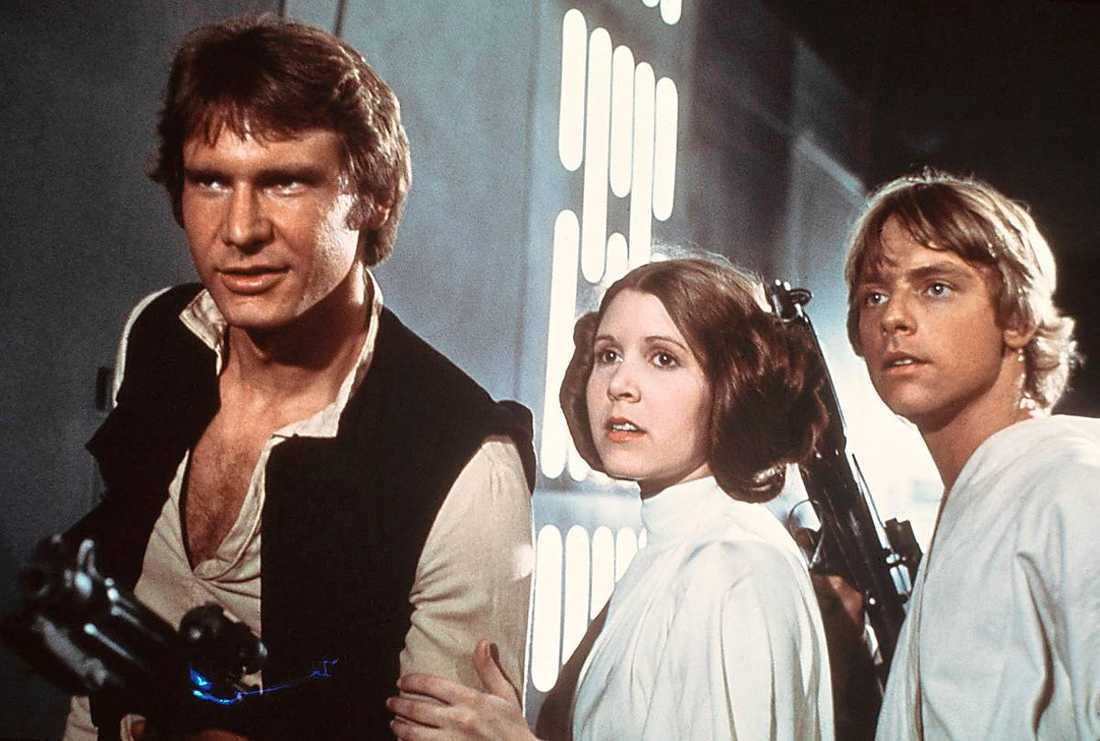 Harrison Ford, Carrie Fisher & Mark Hamill.