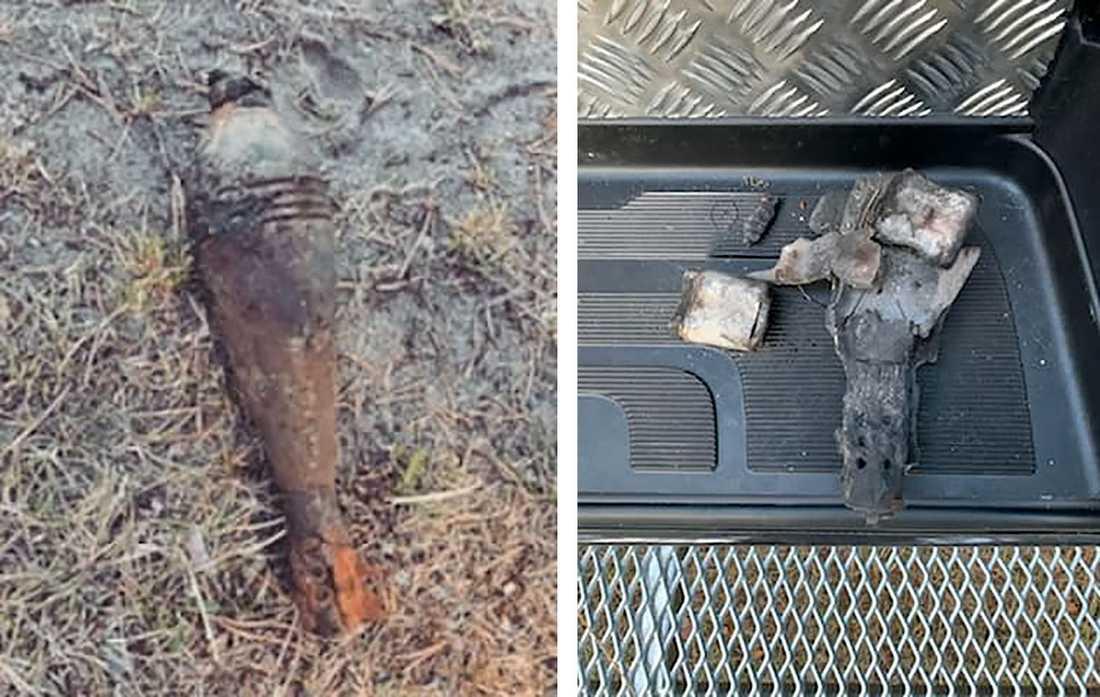 En granat hittades i vattnet vid badstranden på den skånska östkusten på torsdagseftermiddagen. Nationella Bombskyddet kom till platsen och oskadliggjorde föremålet.