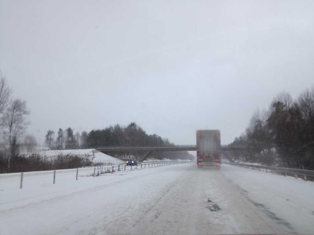 Mellan Gränna och Jönköping.
