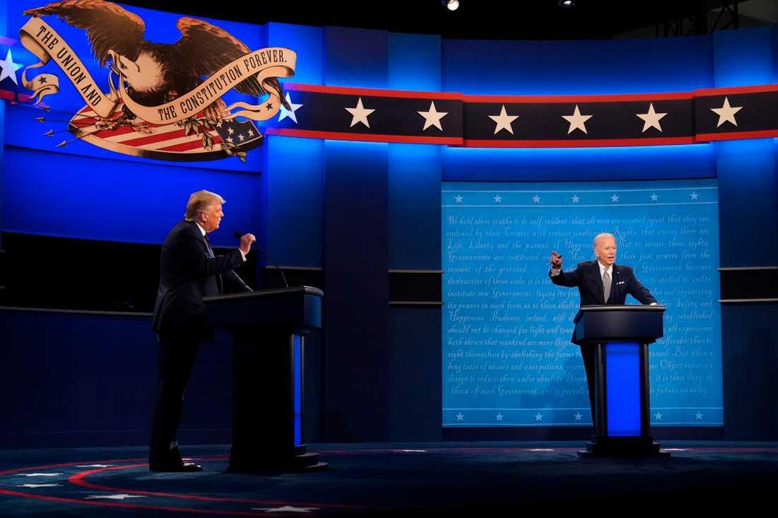 Den första debatten mellan Donald Trump och Joe Biden hölls 29 september.