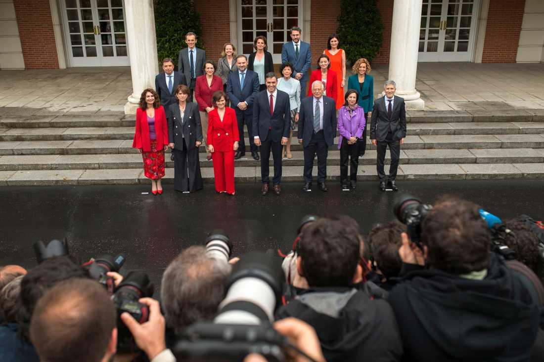 Spaniens regering när den tillträdde i juni.