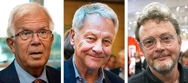 Alf Svensson, Bengt Westerberg och Birger Schlaug.