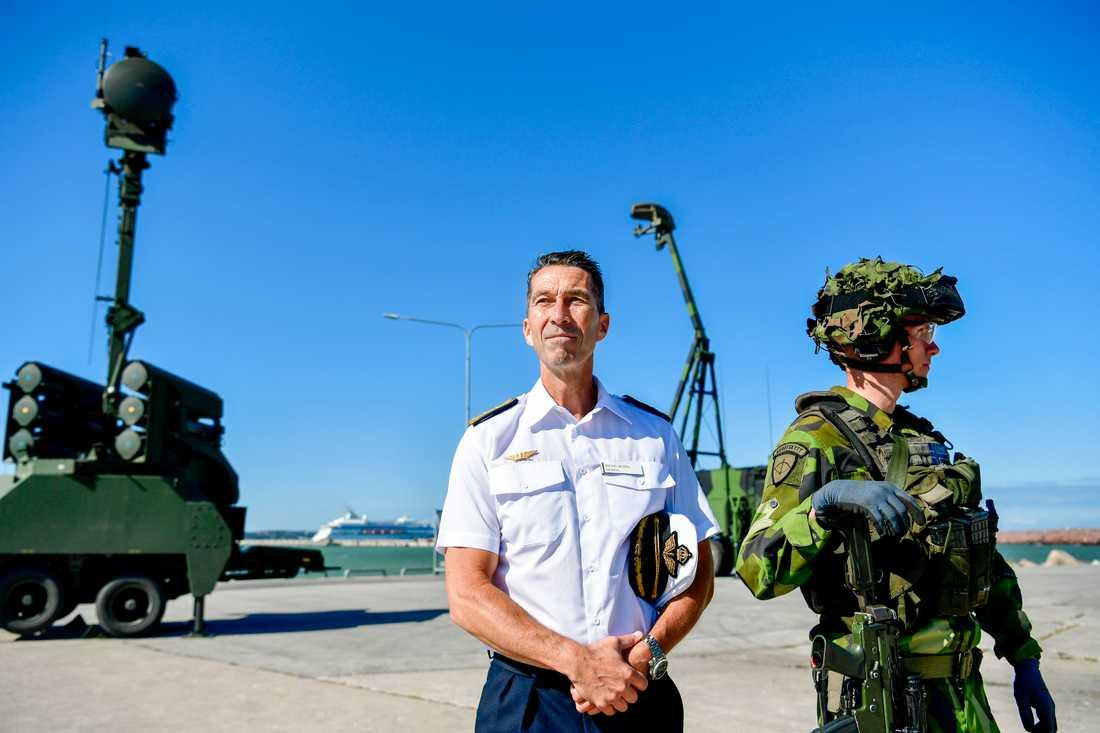 Sveriges Överbefälhavare Micael Bydén i Visby