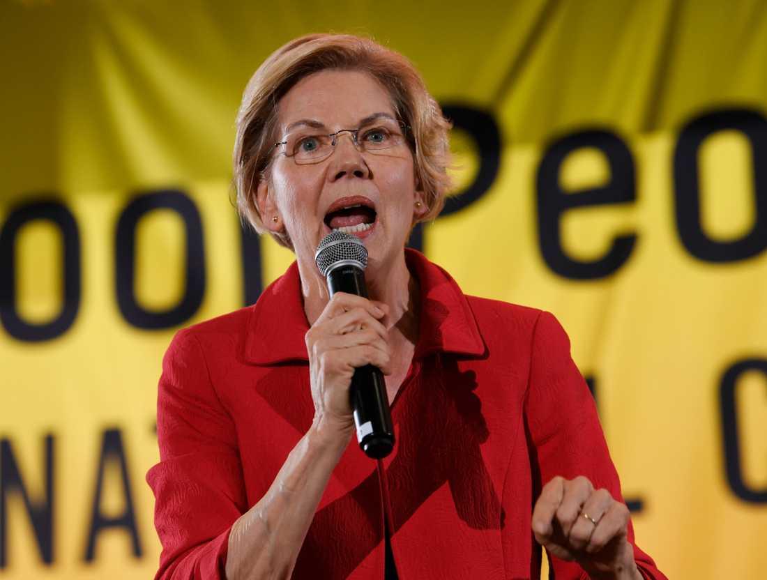Den demokratiska presidentaspiranten och Massachusettssenatorn Elizabeth Warren.