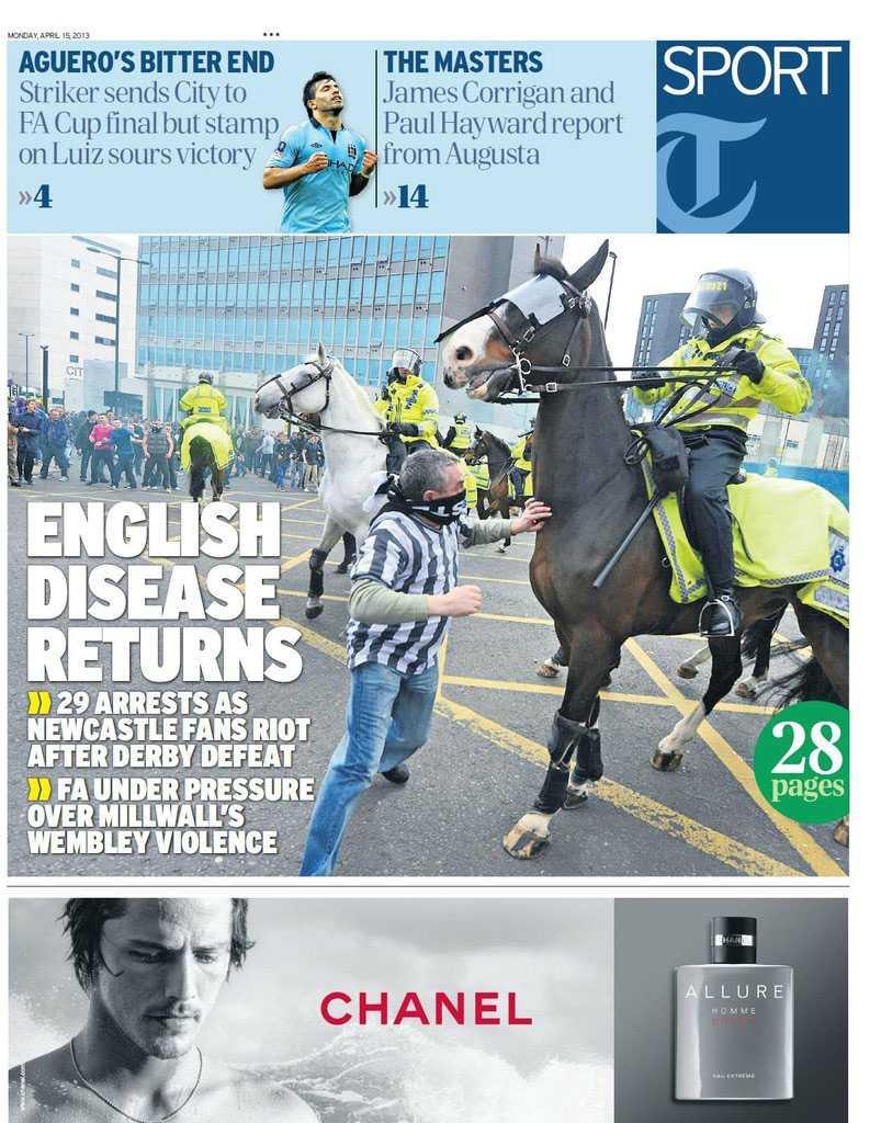 """""""Engelska sjukan återvänder"""" skriver Telegraph."""