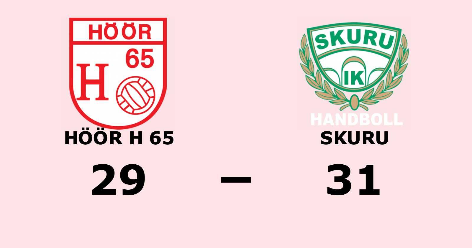 Tre matchbollar för Skuru efter ny seger