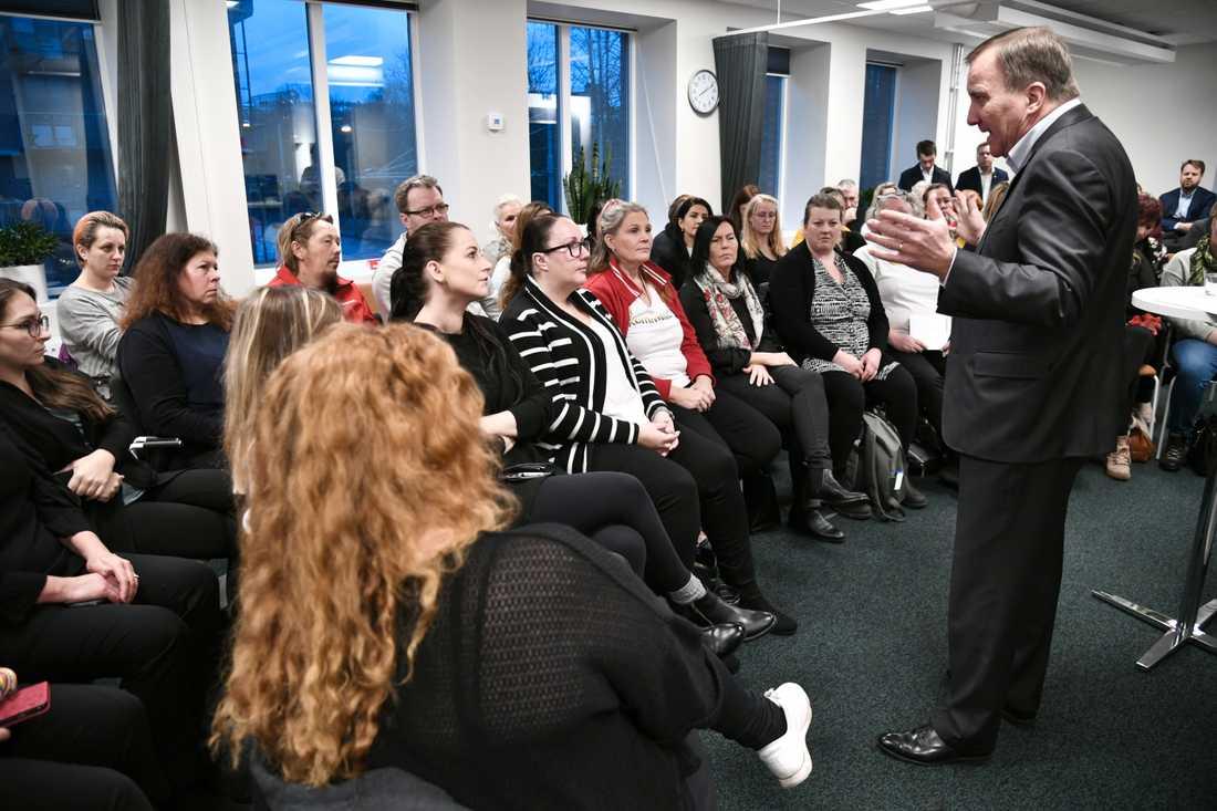 Löfven mötte även medlemmar i Kommunal