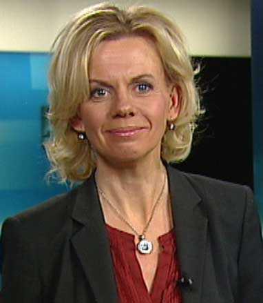 "Margareta Benson är nyhetsankare i ""ABC"", SVT:s regionala program i Stockholm-Uppsala."
