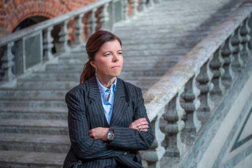 Isabel Smedberg-Palmqvist anser att tanken bakom Skolplattformen är bra, men att projektet blev lite väl stort.