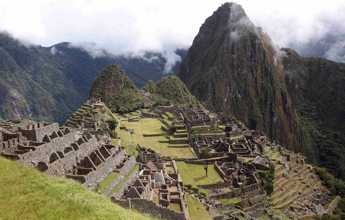 Machu Picchu i de peruanska Anderna. Arkivbild.