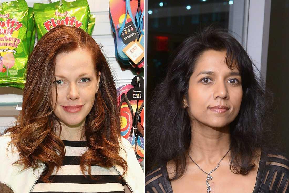 Michelle Manning Barish och Tanya Selvaratnam är två av de fyra kvinnor som anklagar New Yorks högsta åklagare för våld och hot.