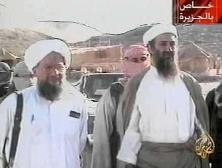 Usama bin Ladin (höger) och hans närmaste man Ayman al-Zawahiri.