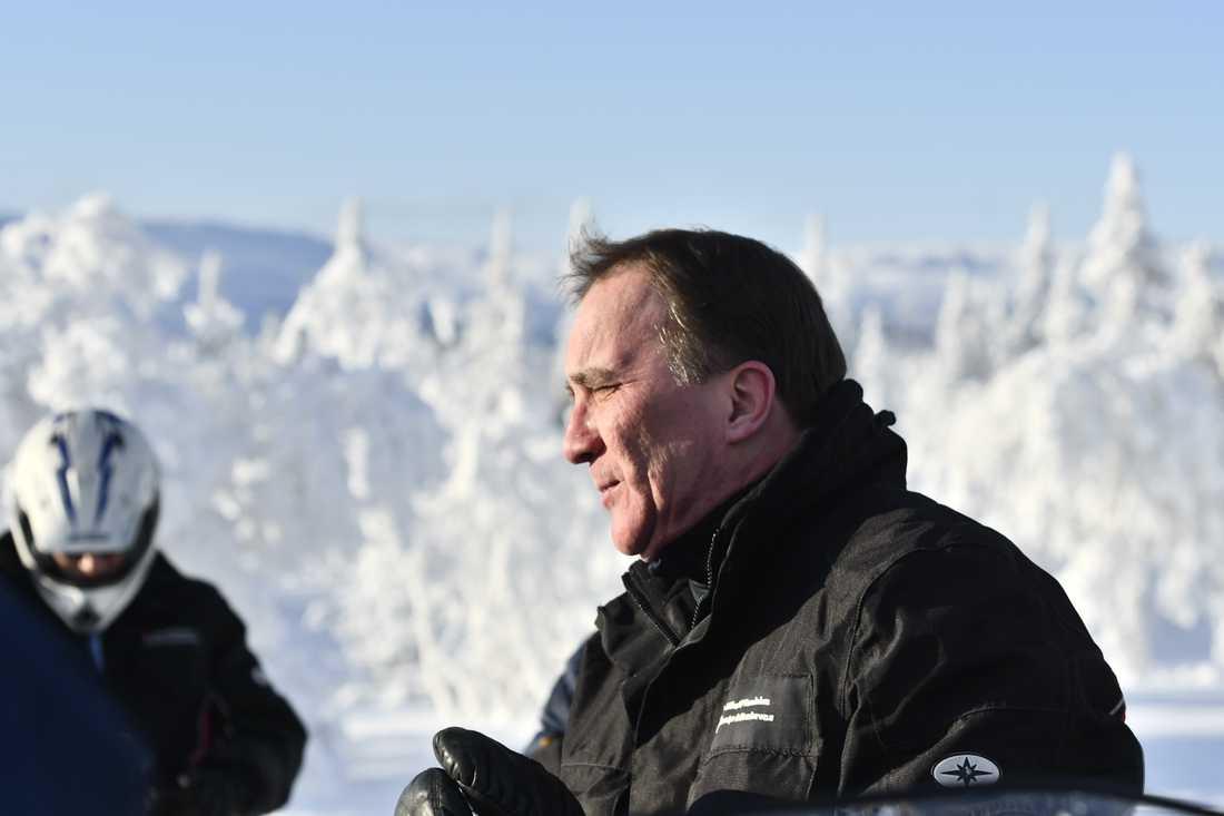 Statsminister Stefan Löfven (S) på besök i Jämtland. Arkivbild.