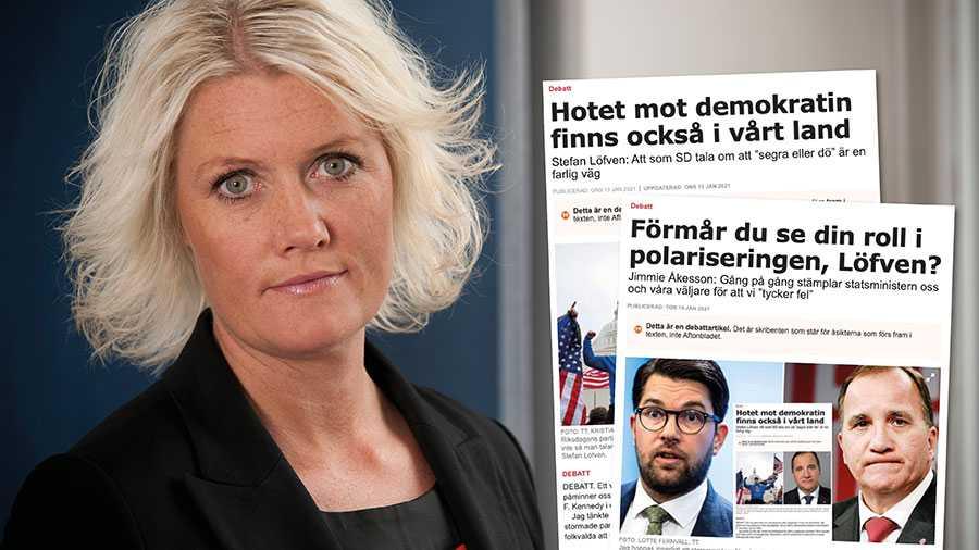 """Sverigedemokraterna gör somTrump gjorde i USA - exploaterar människors oro genom att tala i termer av """"folket mot eliten"""" och """"fakenews"""". Slutreplik från Socialdemokraternas Lena Rådström Baastad."""