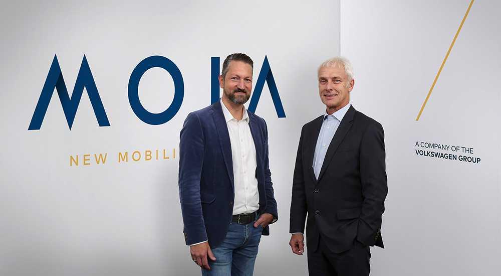 Ole Harms, vd för Moia och MAtthias Müller, vd för Volkswagenkoncernen.