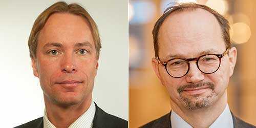 Jonas Eriksson (MP) och Tomas Eneroth (S).