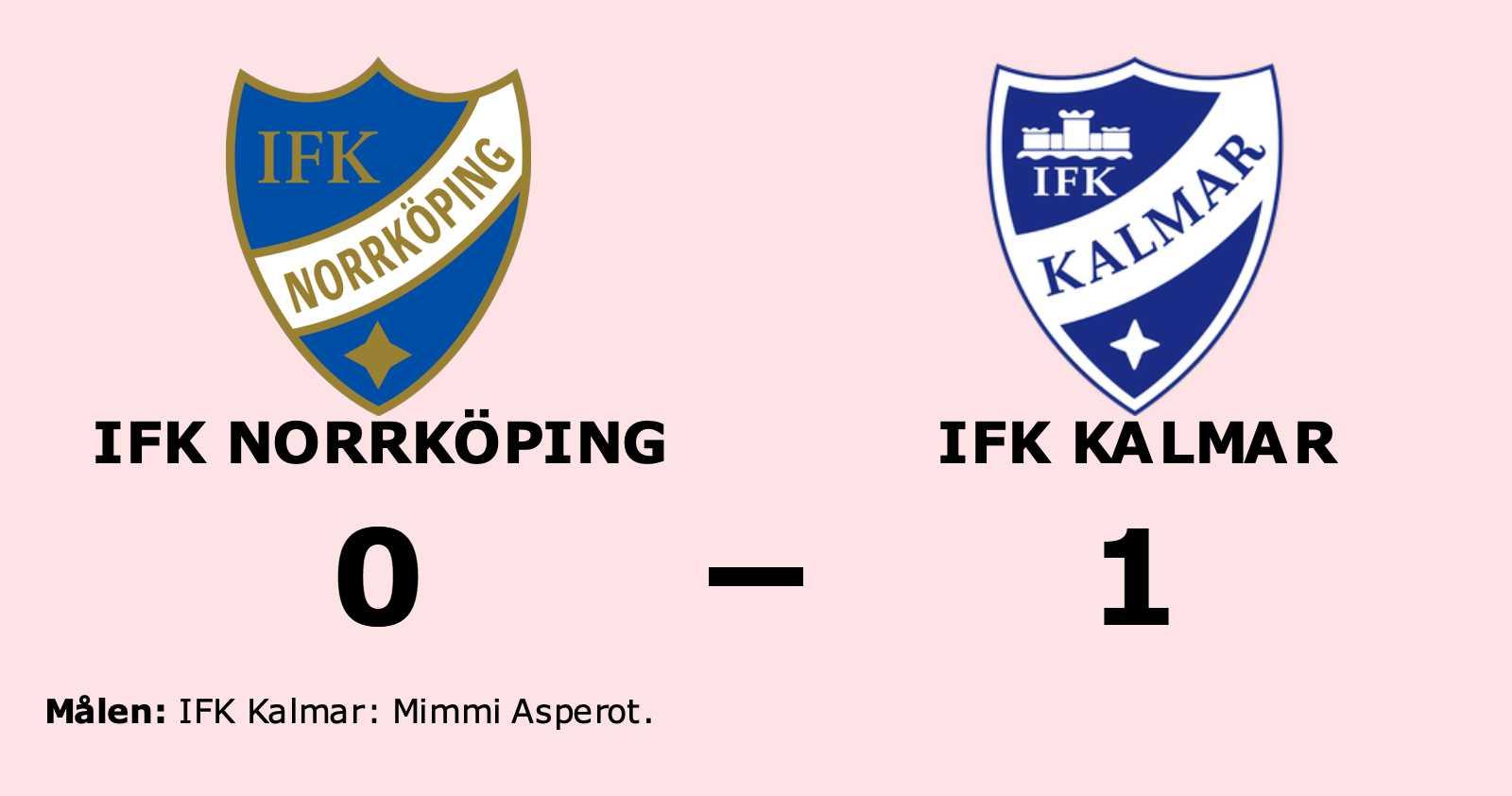 IFK Norrköping förlorade hemma mot IFK Kalmar