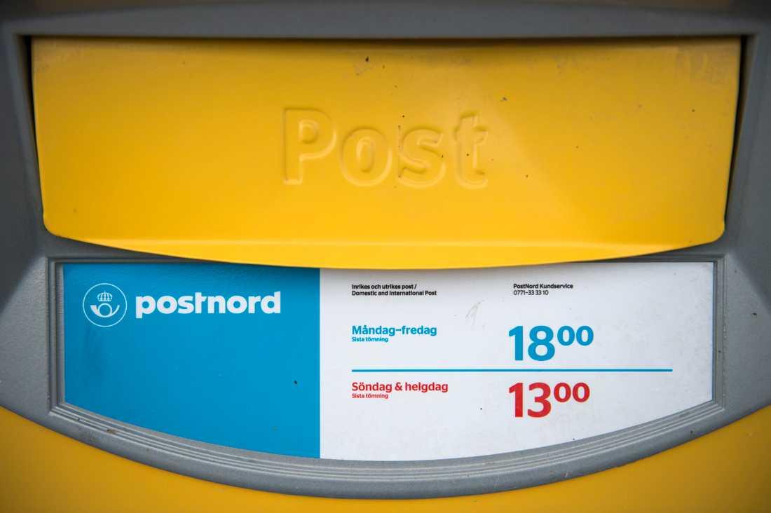 Postnord skär ner på brevlådetömningar. Arkivbild.
