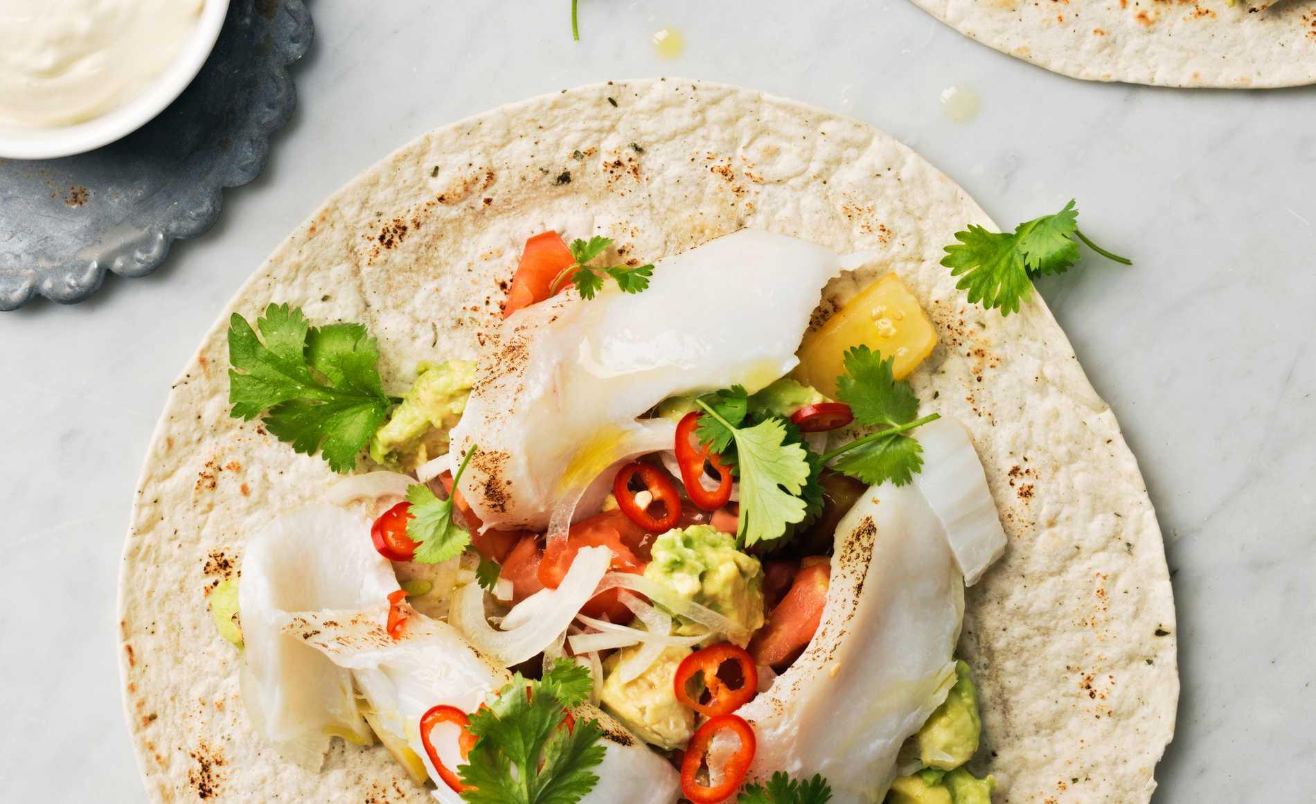 Det finns många varianter av fish taco.
