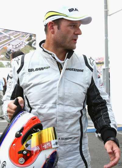 Sprang av banan Direkt efter kvalet åkte Rubens Barrichollo till sjukhuset för att besöka Felipe Massa. FOTO: GETTY IMAGES