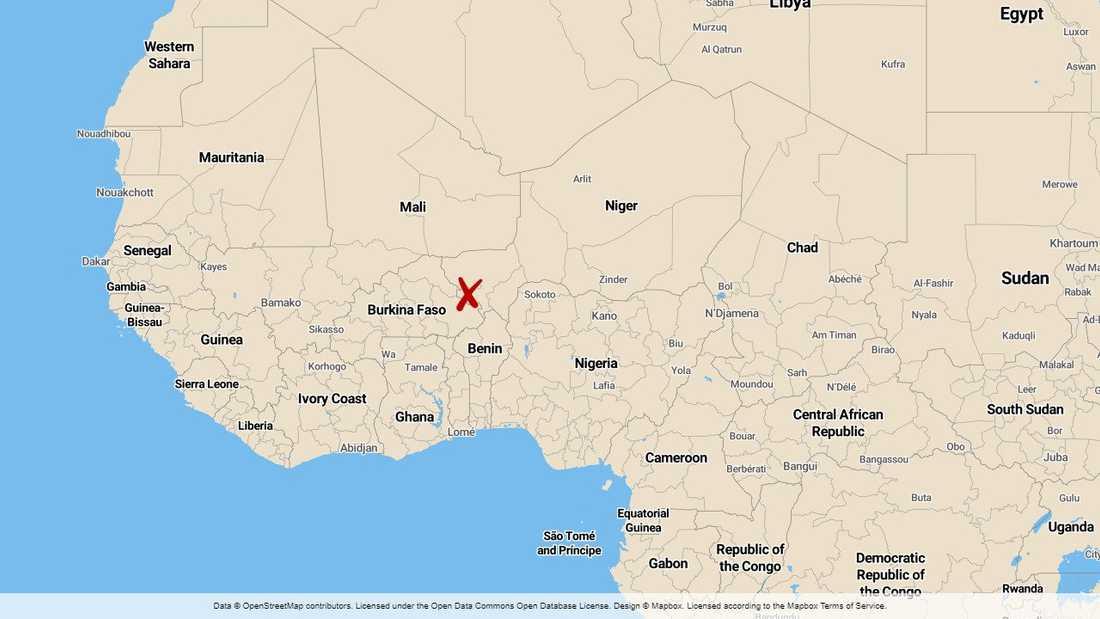 Nigers huvudstad Niamey, nära gränsen mot Burkina Faso.