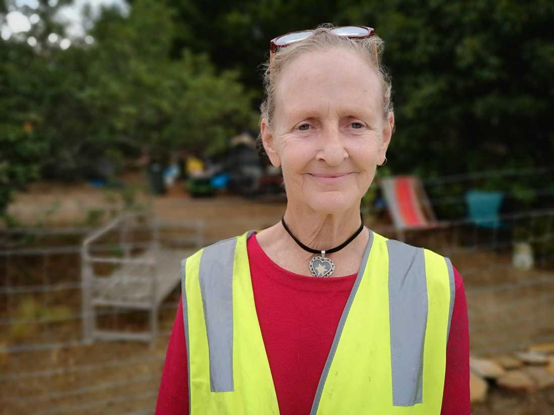 Djurräddare Inga Schwaiger på hennes tomt i Balmoral i New South Wales där hon vårdar skadade djur.