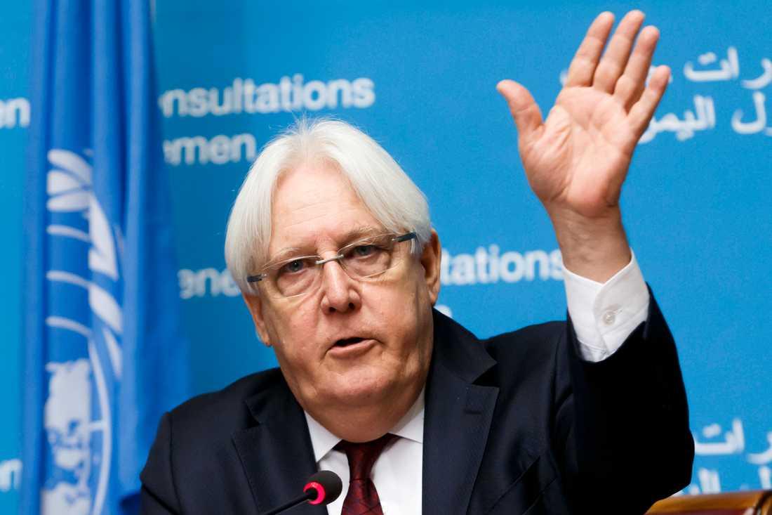 Martin Griffiths, FN:s Jemensändebud. Arkivbild.