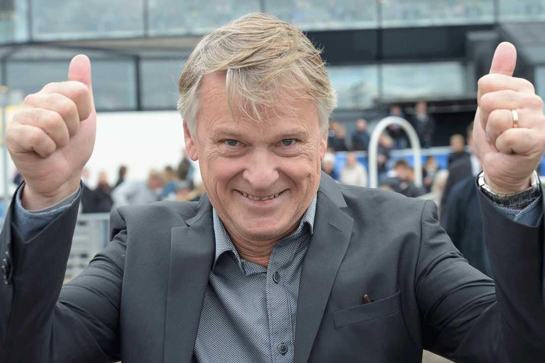 Storhästägaren och miljardären Lennart Ågren kunde glädjas av Heavy Sounds comeback