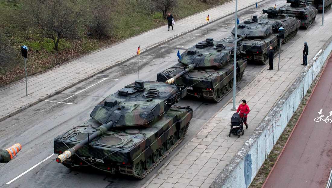 Saudiarabien har tidigare visat intresse för den tyska stridsvagnen Leopard 2. Arkivbild.