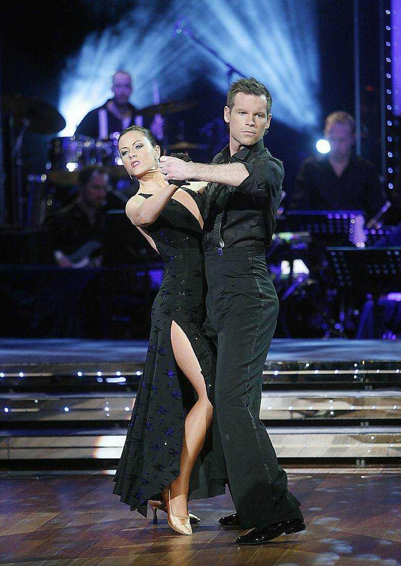 """Mårten dansade med Helena Fransson i """"Let's dance"""" 2007."""
