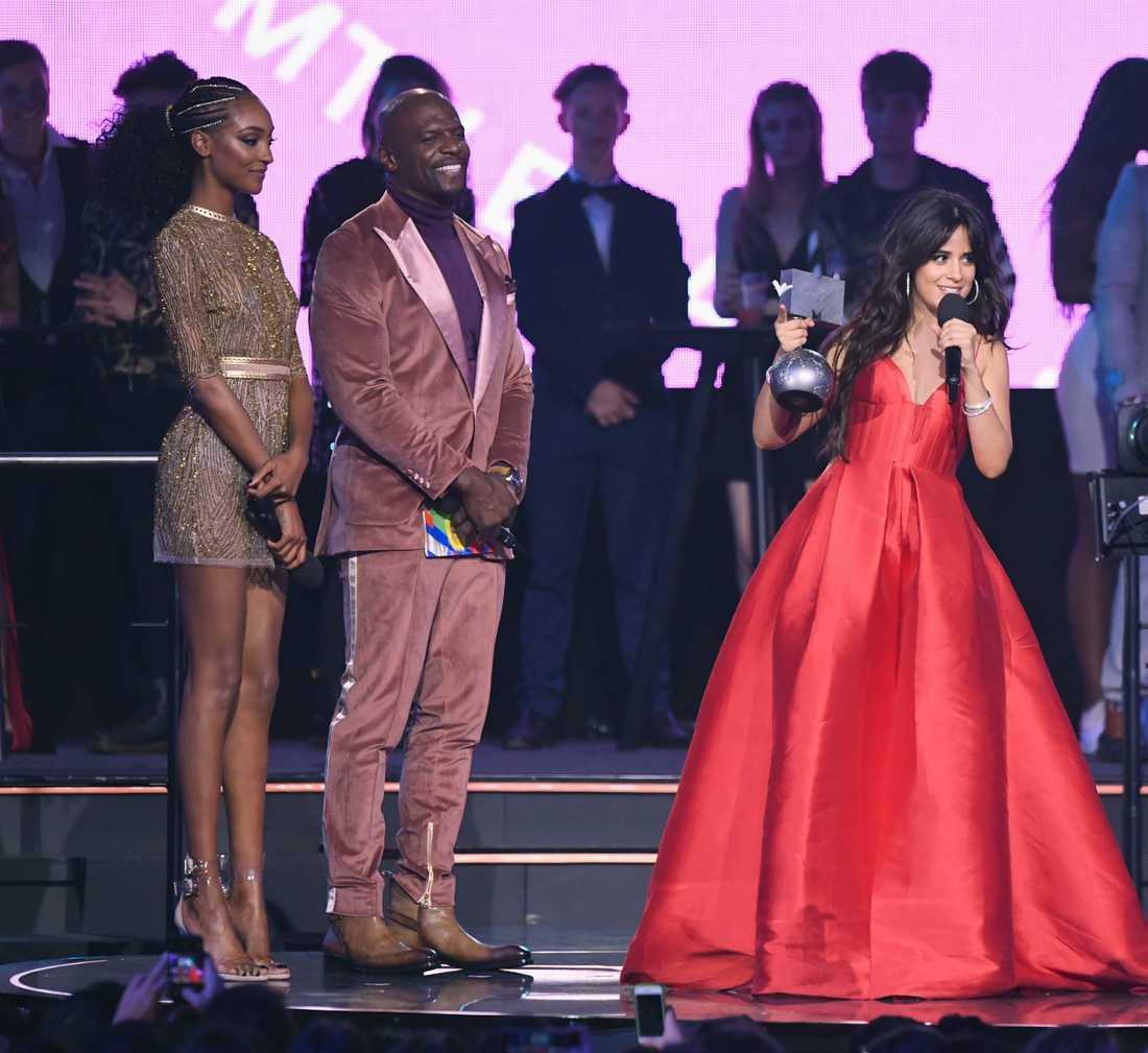 21-åriga artisten Camila Cabello vann flest priser på årets MTV European Music Awards.