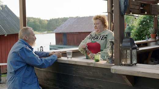 """Hans Mosesson och Marianne Mörck i """"Sjölyckan""""."""