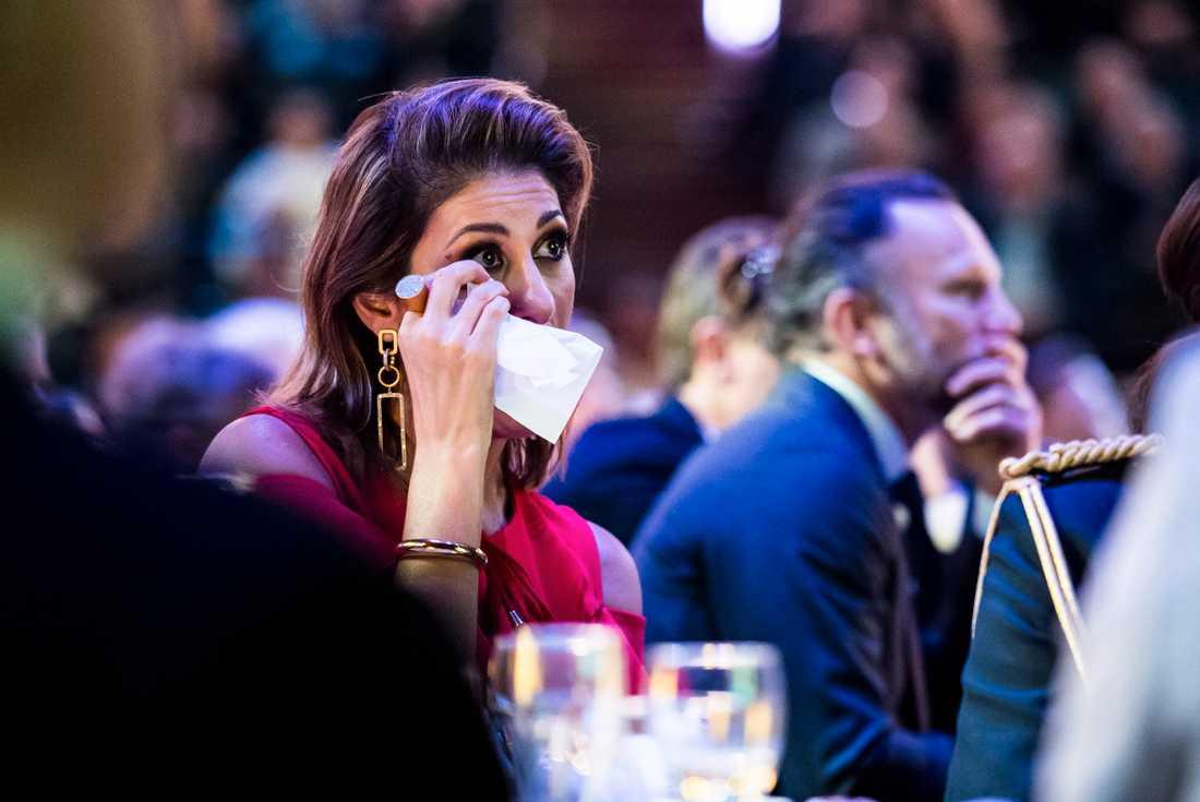 Nyhetsankaret Rania Shemoun Olsson var på plats.