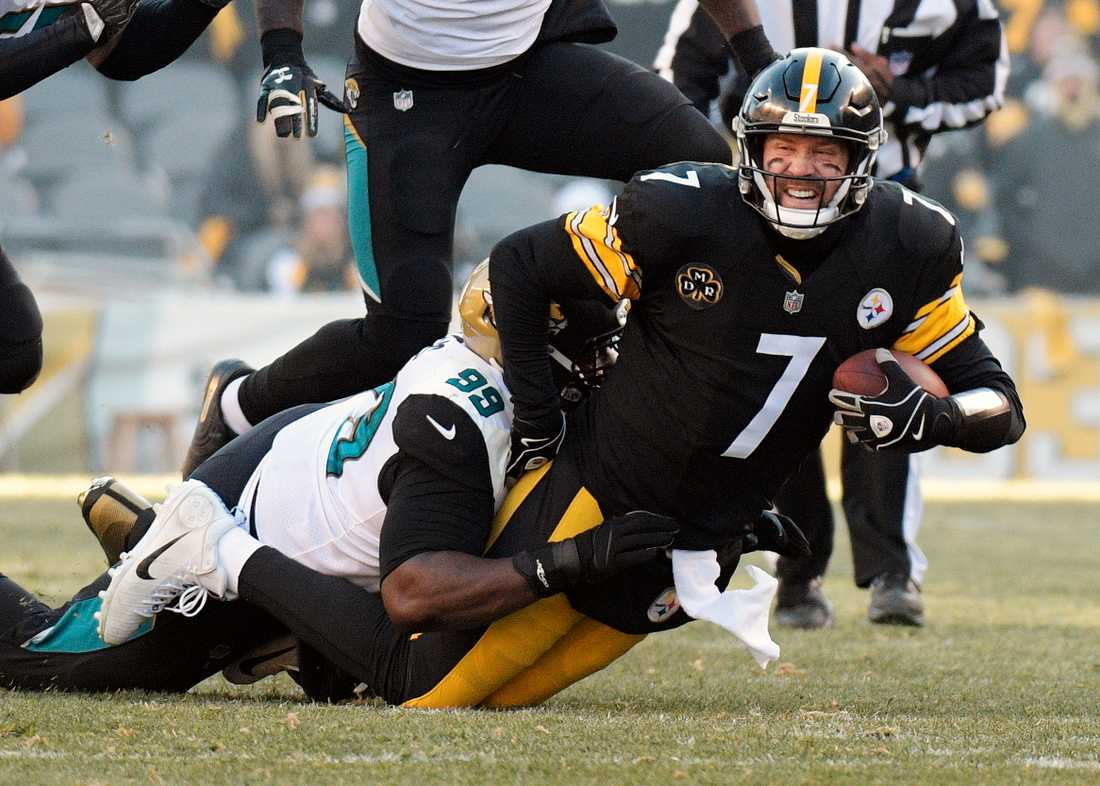 Pittsburghs quarterback Ben Roethlisberger i en match mot Jacksonville i fjol.