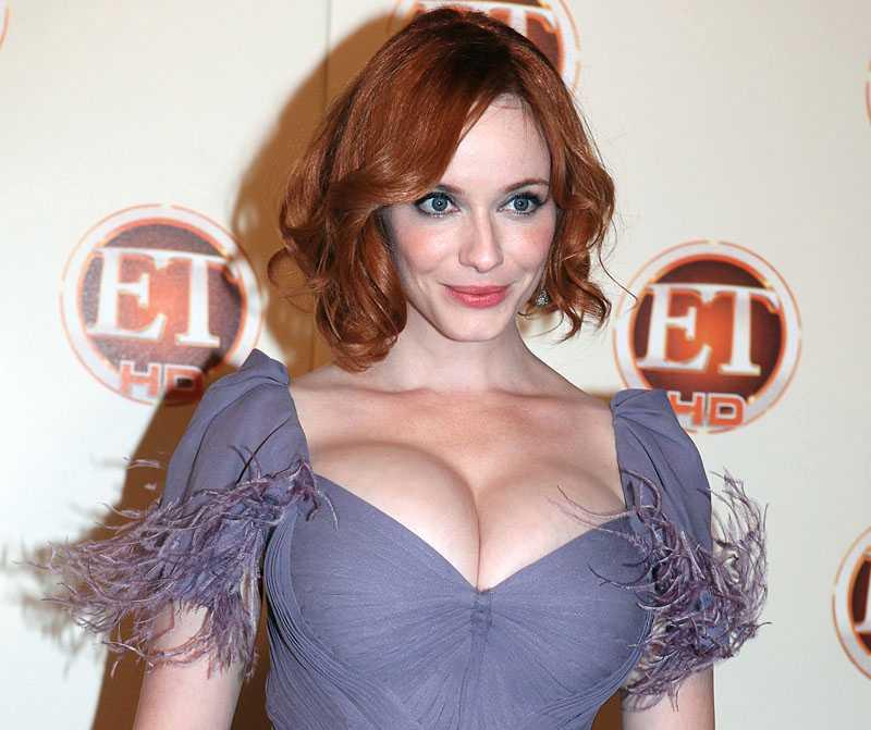 """""""Mad men""""-stjärnan Christina Hendricks är trött på ryktena om bröstoperation."""