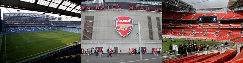 Fotbollstempel Lars Nylin har rankat Londons tio bästa arenor. Stamford Bridge, Emirates Stadium och Wembley Stadium finns med på listan.