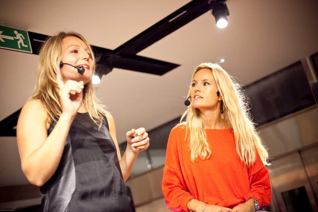 Nästa pass på scenen: makeupartisten Teresa Grundin pratade om säsongens makeuptrender.