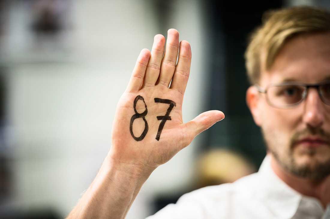Visa att du är en del av väljarna som gillar olika. Skriv 87 i handen och ta en selfie!