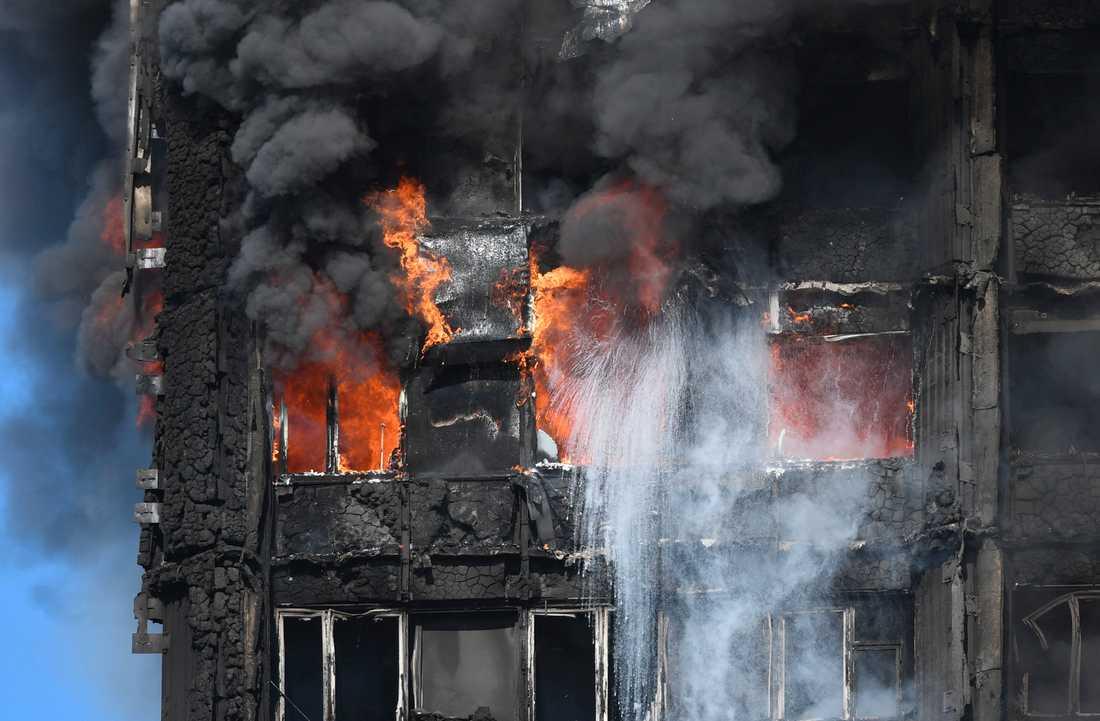 Över 200 brandmän kämpade i timmar med att försöka kontrollera branden.