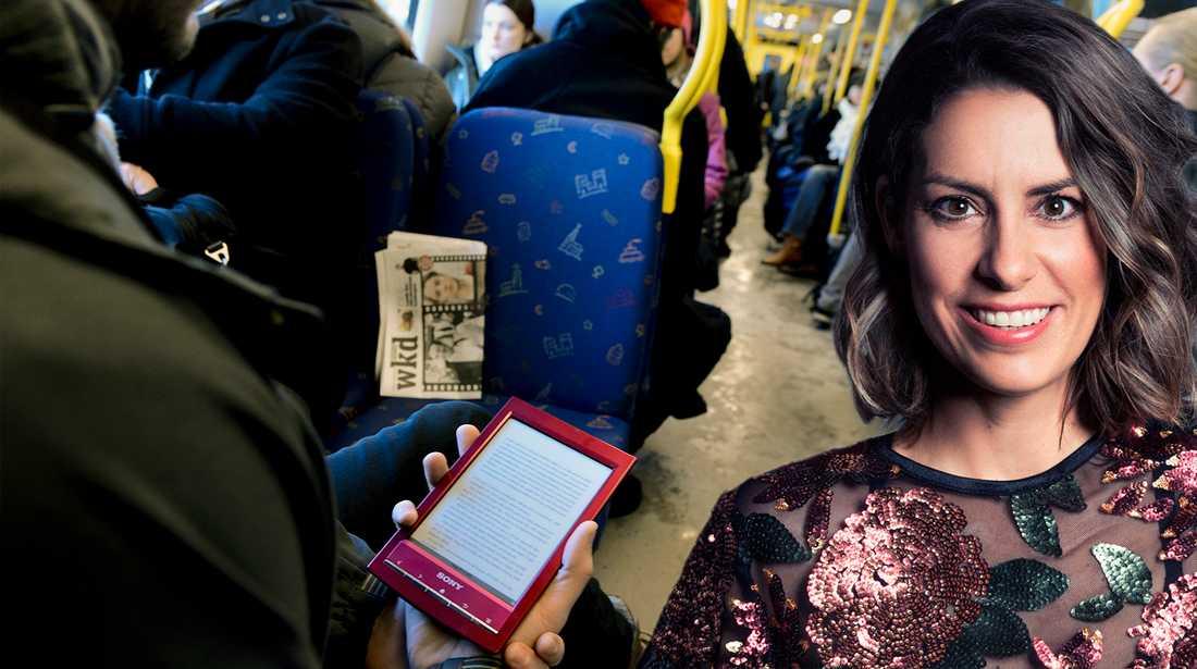 Nina skriver om upplevelsen i kollektivtrafiken.