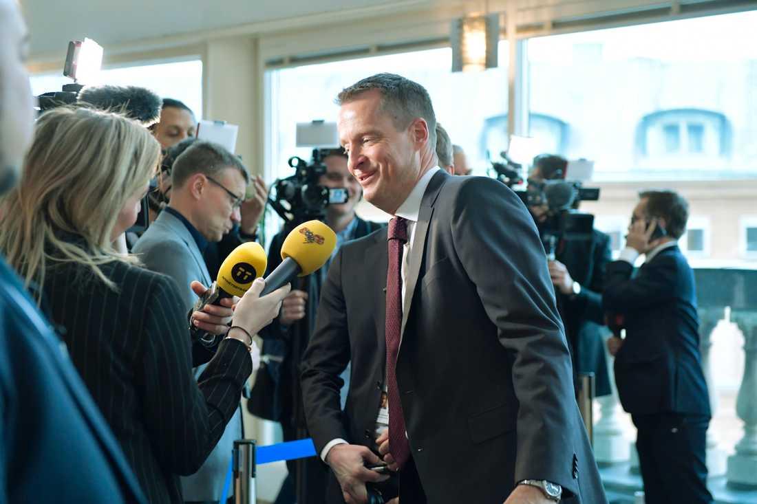 Energi- och digitaliseringsministern Anders Ygeman (S) vill se en lagändring gällande vilka bolag som ska få delta i utbyggnaden av 5G-nät. Arkivbild.