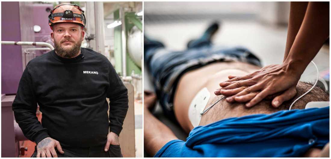 Stefan Katz räddade livet på sin kollega när han fick hjärtstopp. Tack vare att han kunde hjärt- och lungräddning kunde Stefan få liv i mannen.