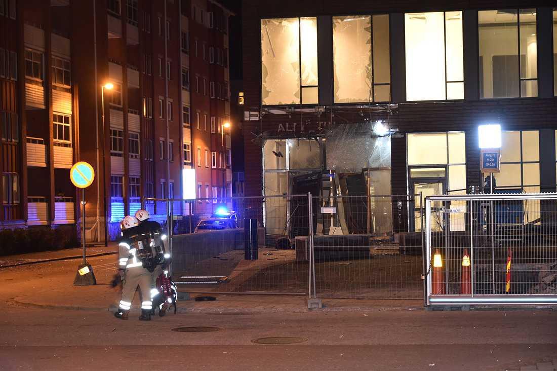 Kraftig explosion i Malmö.