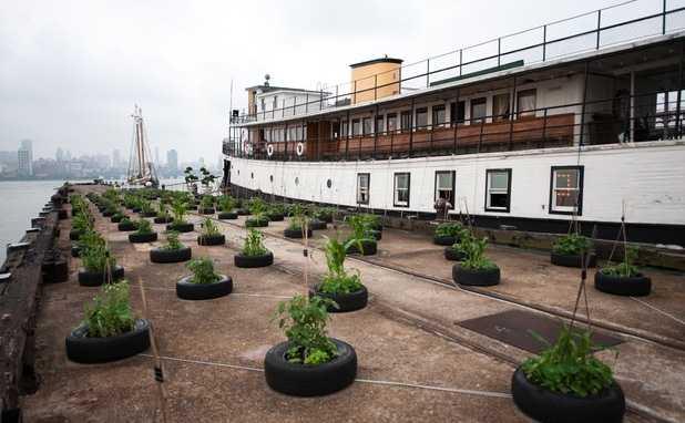 Yankee Historic Ferryboat, Hoboken, USA Upplev ett annorlunda New York. Checka in på den sista Ellis Island-färjan (från 1907) som tog immigranter till USA. Husbåten ligger i Hudson River och du serveras inte bara en tjusig utsikt över the Empire State Building... Kolla efter billiga flygbiljetter till USA här!