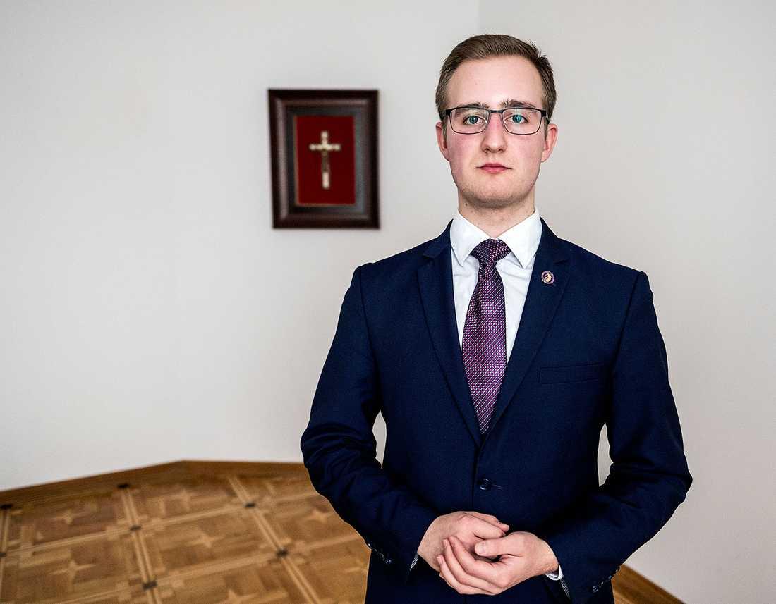 Nikodem Bernaciak från den konservativa stiftelsen Ordo Iuris.
