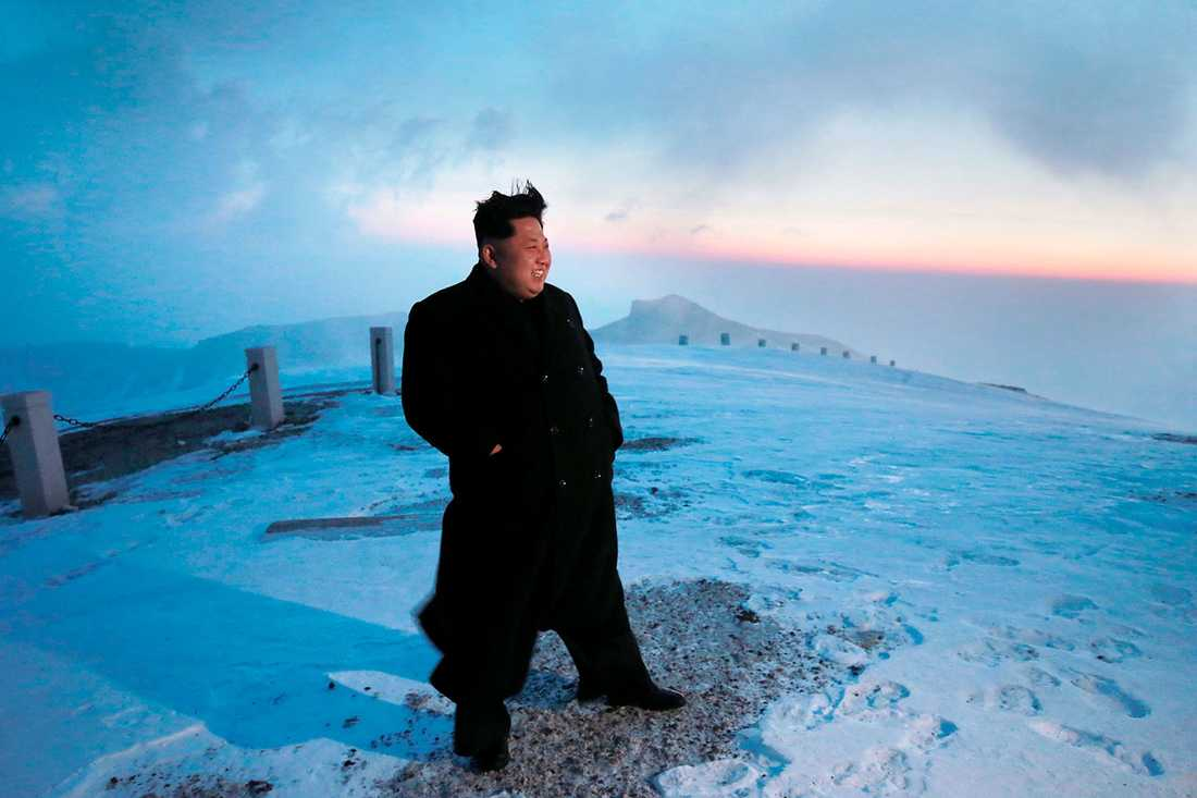 Kim Jong-Un på toppen.
