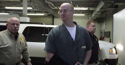 Timothy Masters när han släpps efter nio år i fängelse.