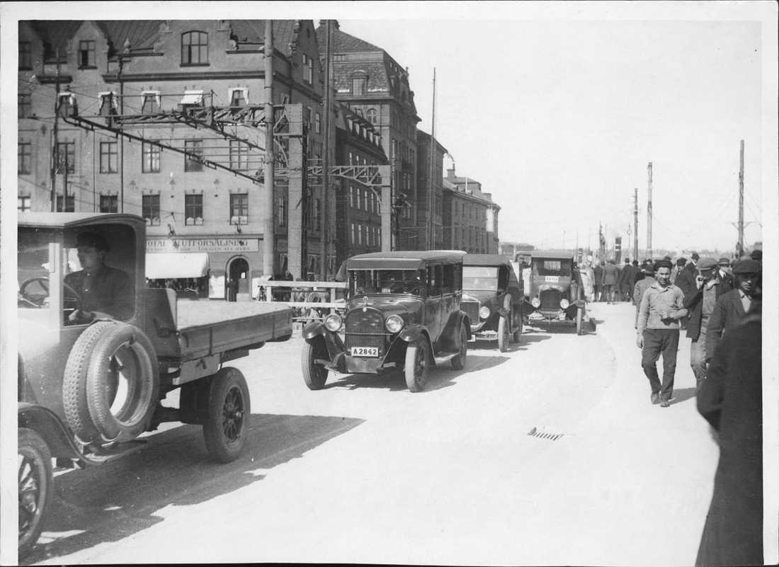 Slussen 20-tal Biltrafik.