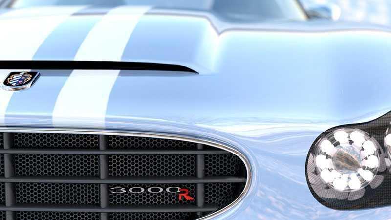 En första glimt av den uppdaterade 3000R. Ursprungsdesignen har försiktigt förfinat utseendet för att ge en modern känsla.